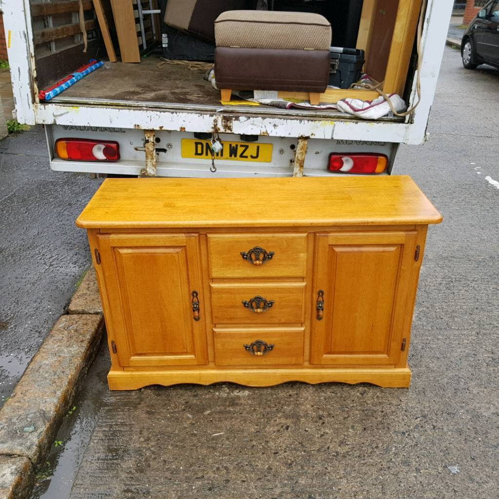 Solid Honey Pine Wood Sideboard Or Dresser