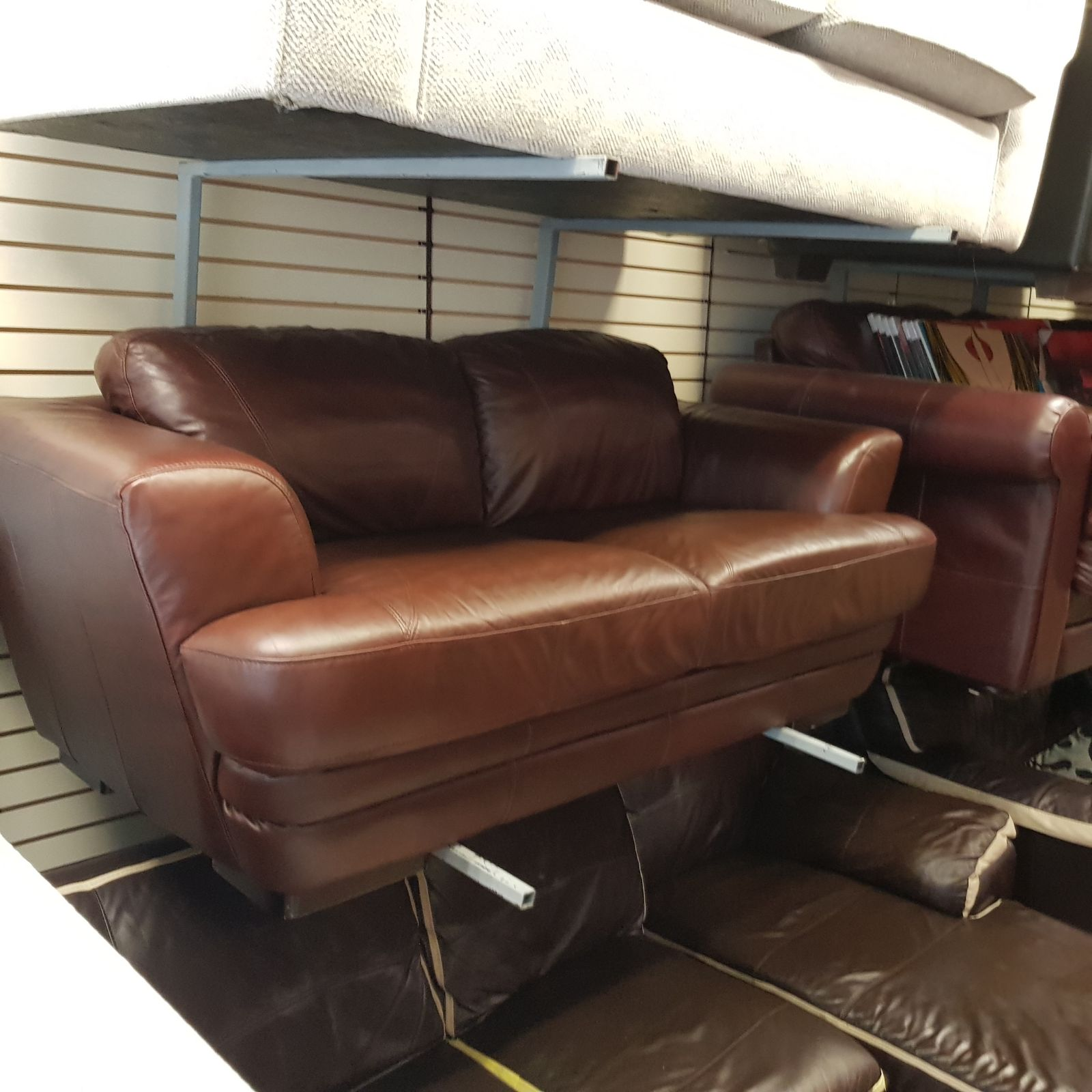 2 Seater Sofa In A Dear Grade If Brown Leather Hyde