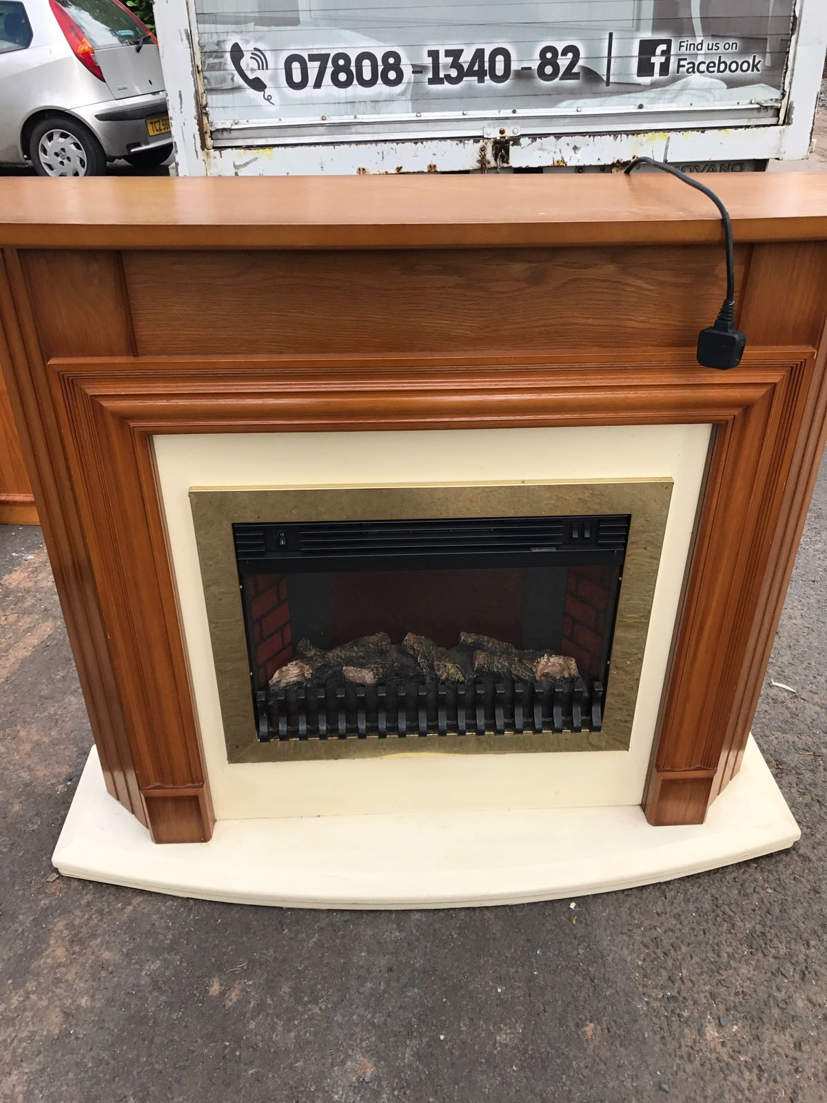 Very Nice Fireplace With A Built In Electric Fire Whelans Quality Used Furniture